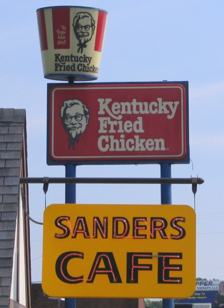 KFC signs Old and New